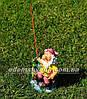 Садовая фигура Гном на рыбалке, Гном у забора и Гномы скалолазы, фото 3