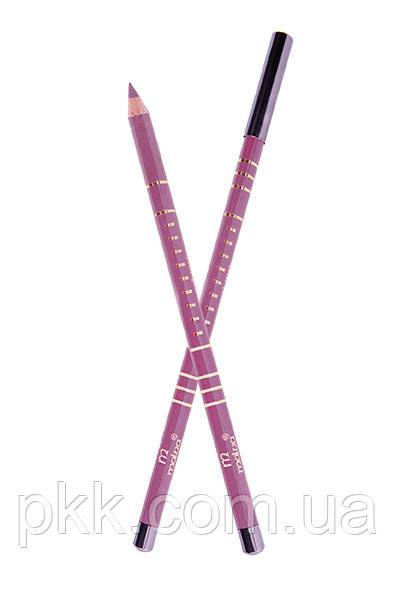 Карандаш для губ и глаз Malva Cosmetics деревянный контурный Professional Pencil М-319