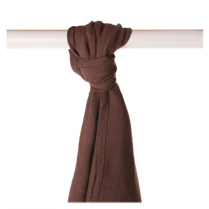 Пеленка бамбуковая, муслиновая XKKO 90x100 двухслойная 1 шт. Шоколадный