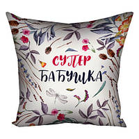 Подушка с принтом Супер бабушка (3P_19F007_RUS)