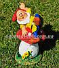Садовая фигура Гном грибник малый и Гном на мухоморе малый, фото 5