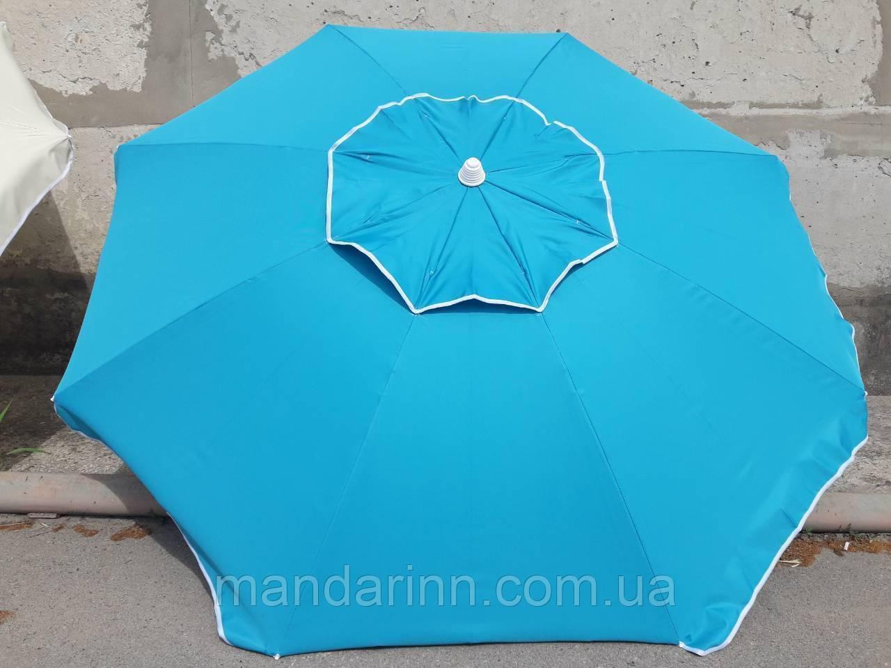 Пляжний зонт 1,8 м клапан нахил чохол червоний - фото 5