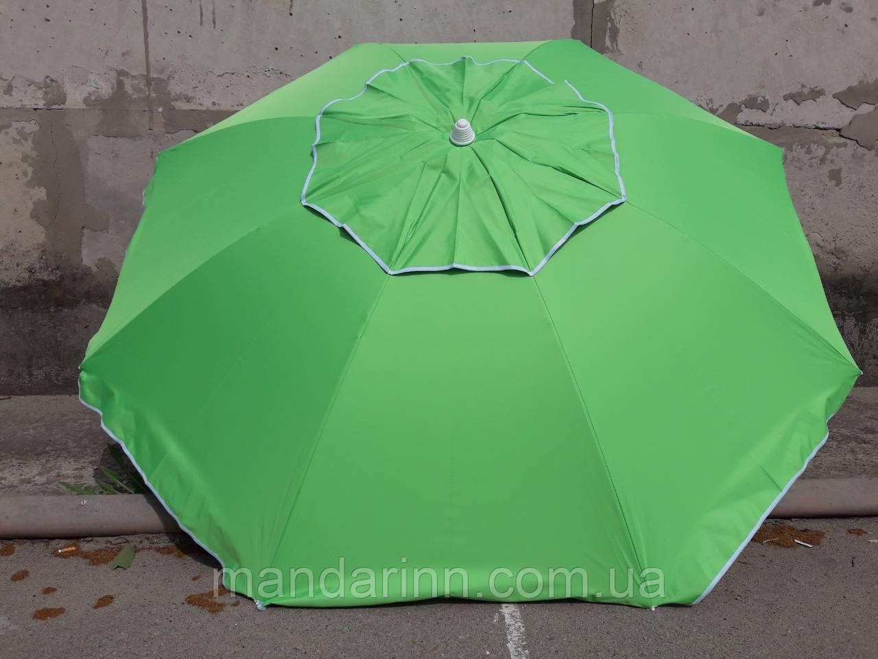 Пляжний зонт 1,8 м клапан нахил чохол червоний - фото 7