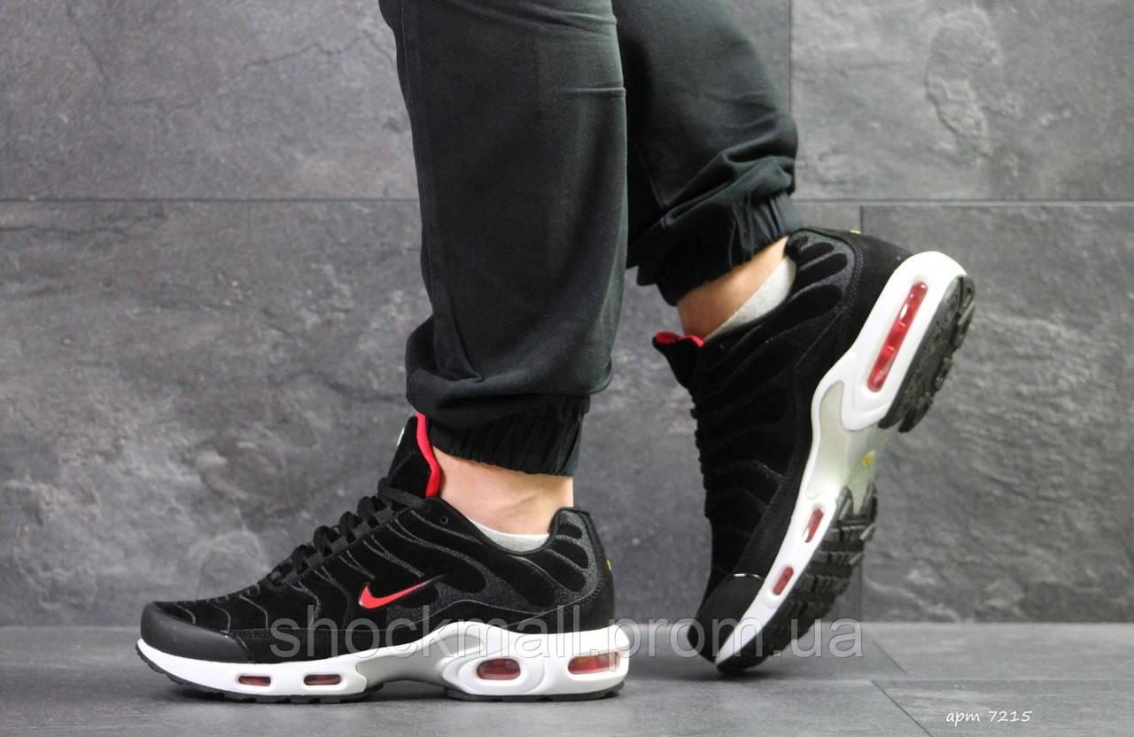 d9626dad Купить Кроссовки мужские Nike Air Max TN черные замша Вьетнам ...