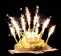 Фейерверк для торта Холодный фонтан  Набор 4шт 15см