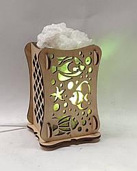 Соляной светильник Деревянный камин Рыбы