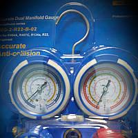 Манометрический коллектор двухвентильный  VALUE VMG -2 R22 - для измерения давление фреона  и давление вакуума
