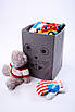 Детский ящик для игрушек с крышкой Мышка 25*25 см, фото 2