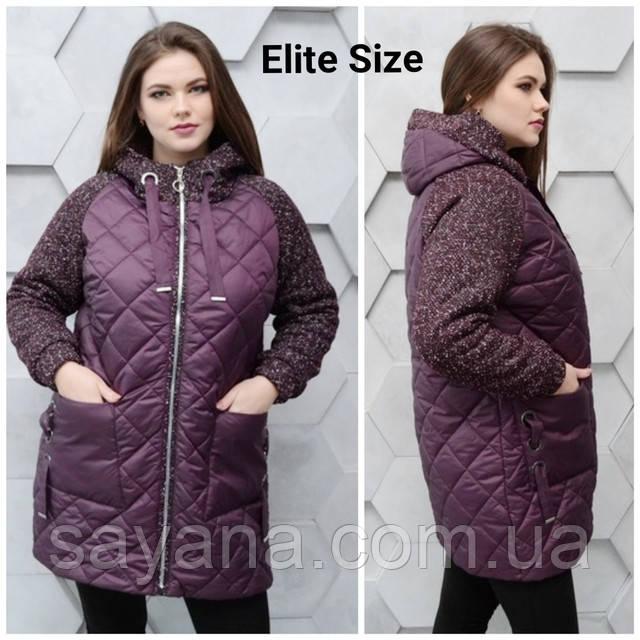 женская комбинированная куртка оптом