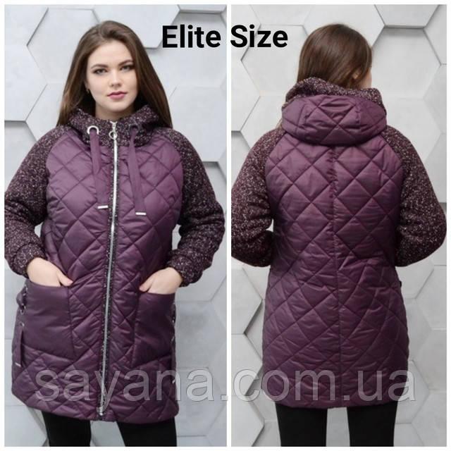 женская комбинированная куртка