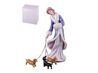 """Статуэтка """"Девушка с собаками"""" 23 см, фарфор (461-057)"""