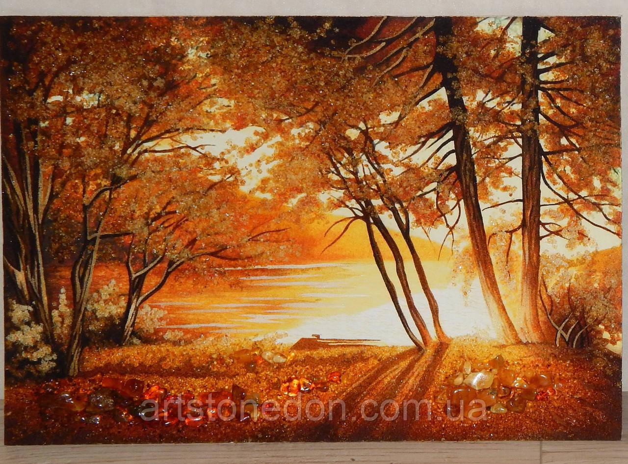 Картина из янтаря Осень