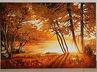 Картина из янтаря Осень, фото 1