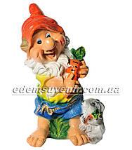 Садовая фигура Гном с зайцем средний, Гном с гусем средний и Скромница, фото 3
