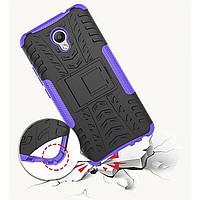 Защитный чехол бампер Meizu M5 Note Бронь, подставка. Фиолетовый.
