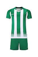 Футбольная форма игровая Europaw 020 (бело-зеленая), фото 1