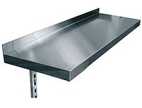 Полиці навісні однорівневі консольні нержавіюча сталь
