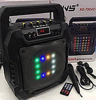 Портативная колонка с микрофоном NS-T90AC /40W (USB/FM/Bluetooth/Пульт ДУ)