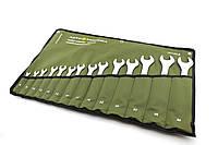 Набор комбинированных ключей в брезентовом планшете 14 единиц.