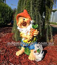 Садовая фигура Гном с зайцем средний и Гном с белкой средний, фото 3