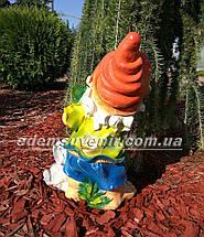 Садовая фигура Гном с зайцем средний и Гном с белкой средний, фото 2
