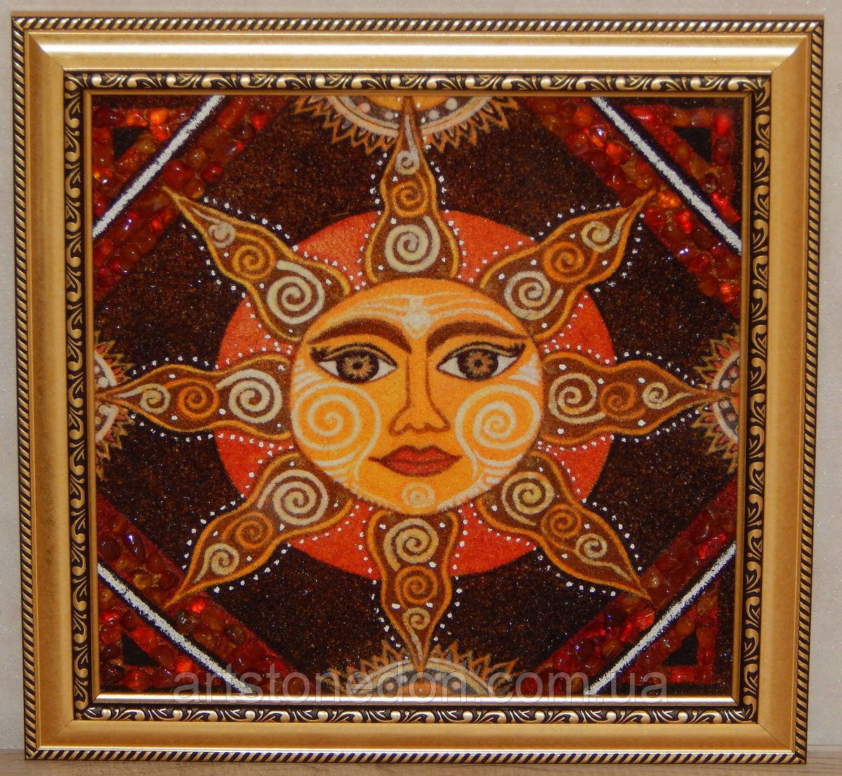 Картина из янтаря Солнце