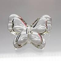 Бусина- бабочка, цвет Crystal 28х35mm*1шт