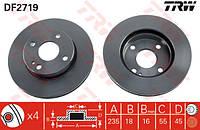 Тормозной диск передний на Mazda 323 BA 1.3 и BG (TRW)