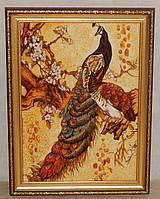 Картины из янтарной крошки Павлины