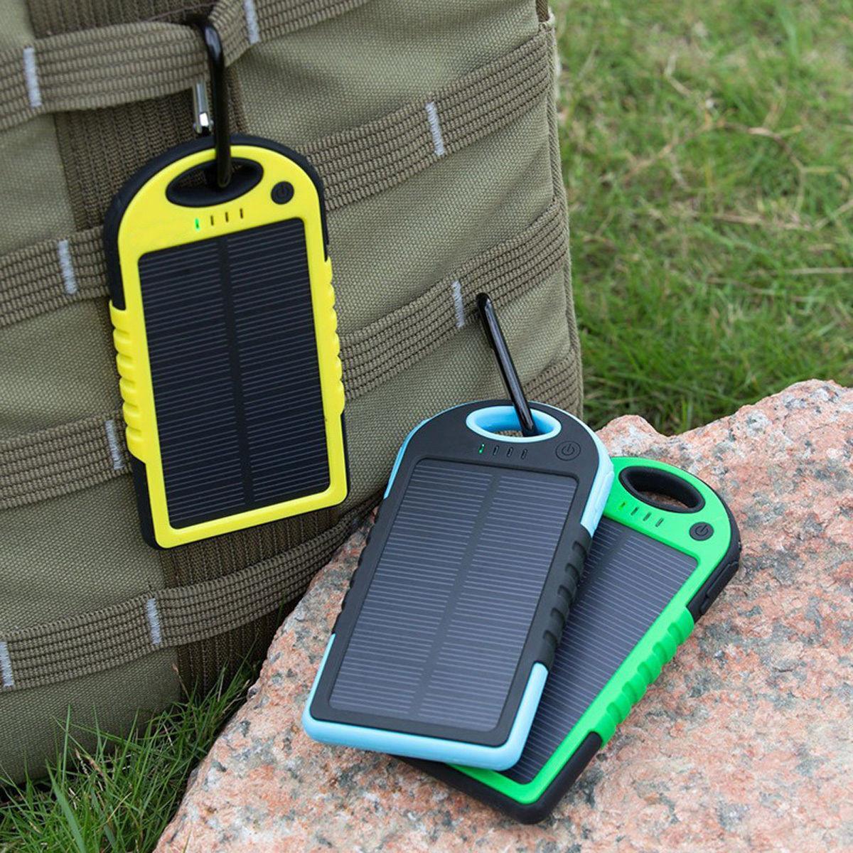 Power Bank Solar 30000 mAh LED повер банк на солнечной батарее с карабином