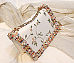 Сумка женская через плечо с вышивкой и цветами Белый, фото 2