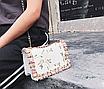 Сумка женская через плечо с вышивкой и цветами Белый, фото 3