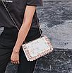 Сумка женская через плечо с вышивкой и цветами Белый, фото 6