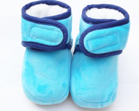 Пінетки демісезонні плюшеві пинетки теплые синій, 11 см