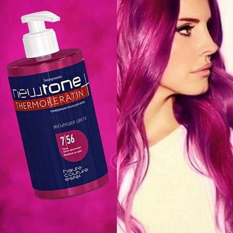 Тонуюча маска для волосся 7/56 (русявий червоно-фіолетовий) Estel Haute Couture Newtone, 435 мл