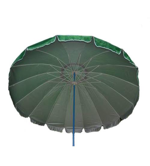 Зонт пляжный, круглый, диаметр 3,3 метра, с серебряным напылением, 16 спиц из пластика