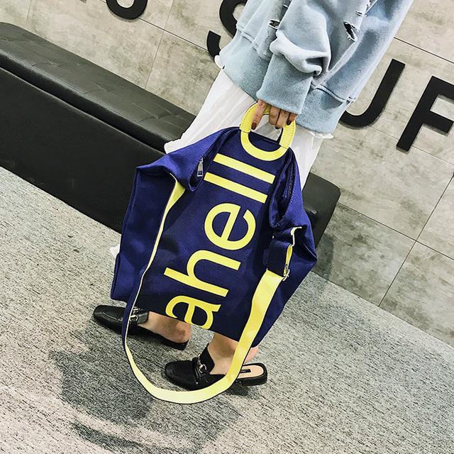 Тканевая женская сумка синяя