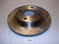 Тормозной диск передний на Mazda 323 BA 1.3 и BG (ASHIKA)