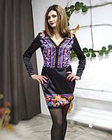 Красивое нарядное платье с необычным принтом