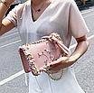 Сумка женская через плечо с вышивкой и цветами Розовый, фото 3