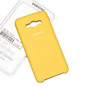 Силиконовый чехол на Samsung J5 510 (2016) Soft-touch Yellow