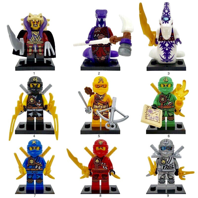 Новые Минифигурки ниндзяго ninjago Лего Lego Гармадон брелок фигурки дяпчики Мастер Чен,Скайлор