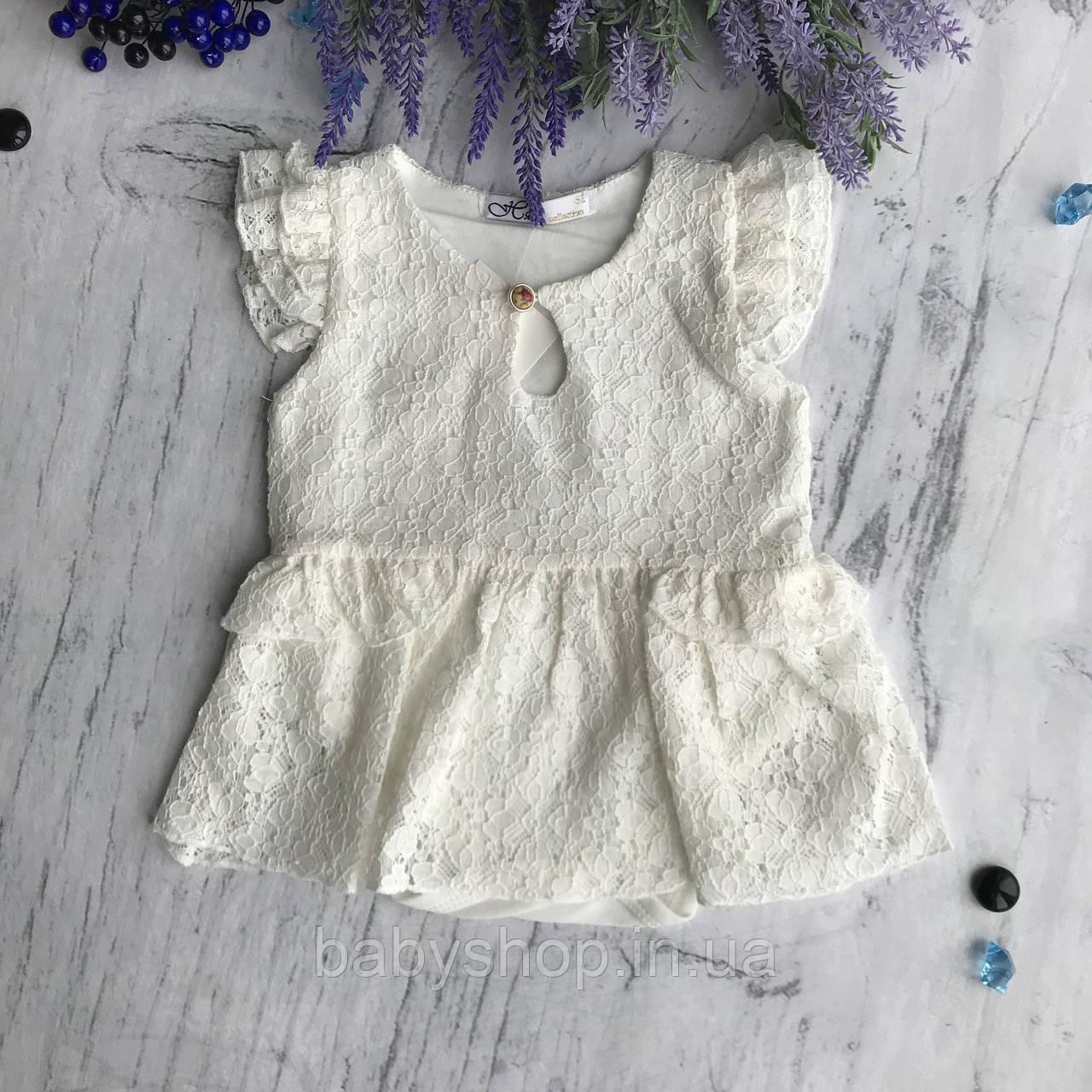 Летнее боди платье на девочку 1. Размеры 62 см, 68 см, 74 см