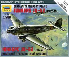 Модель немецкого самолета JU-52. 1/200 ZVEZDA 6139