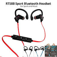 Вакуумные спортивные Bluetooth наушники RT-558 с креплением на ухо, фото 1