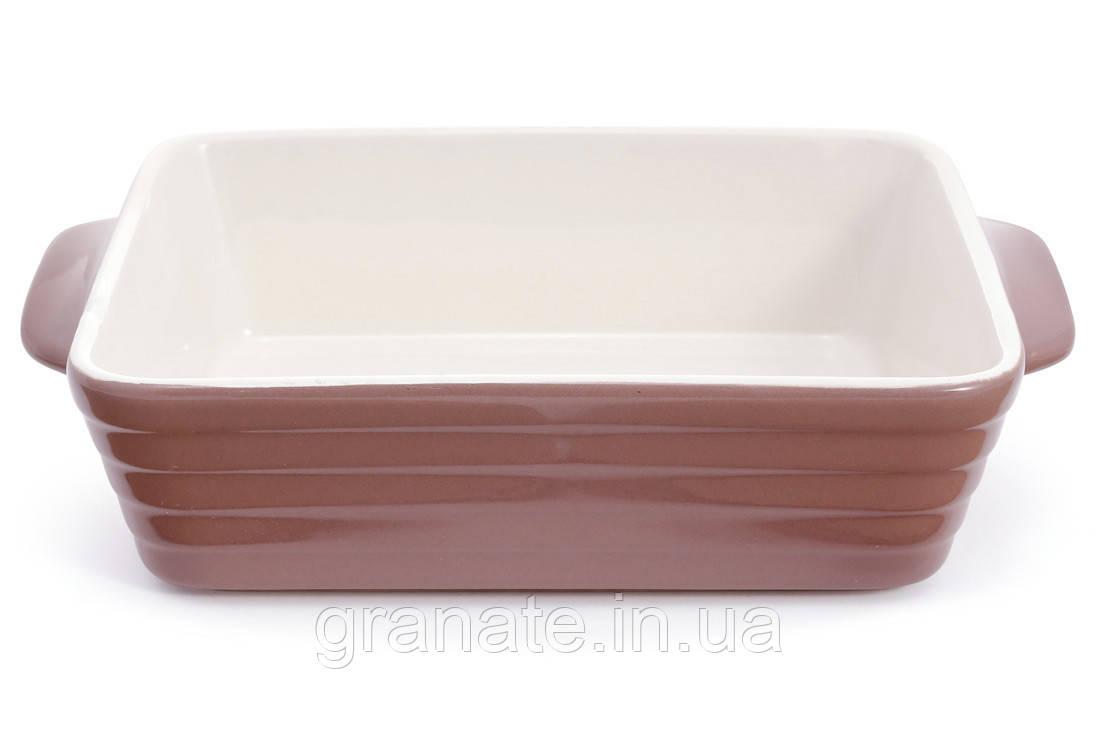 Форма для выпечки жаропрочная керамика, цвет - какао  24х15,5х6,3 см
