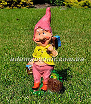 Садовая фигура Гном маляр и Гном с лейкой средние, фото 2