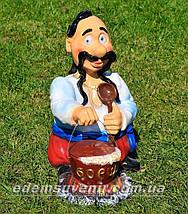 Садовая фигура Козак с варениками, Козак с борщом и Хозяин, фото 3