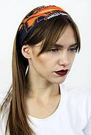 Бафф Ashma Черный с оранжевым 48х24 см - 134080