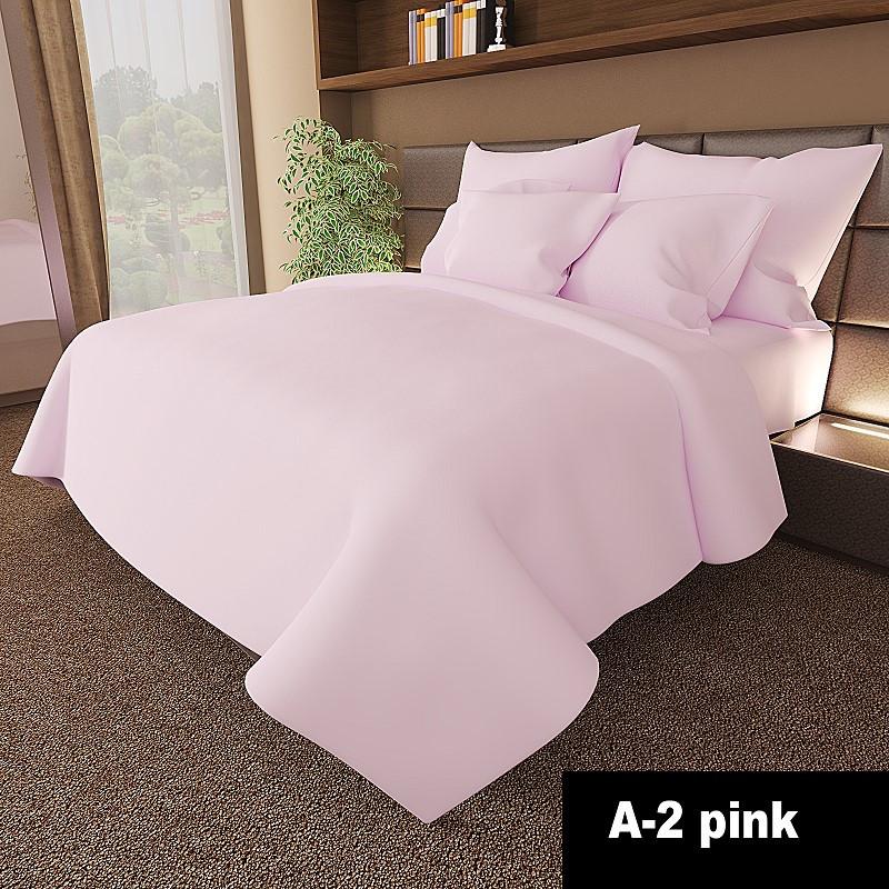 Постельный комплект  однотонный Розовое(Pink)  из Ранфорса